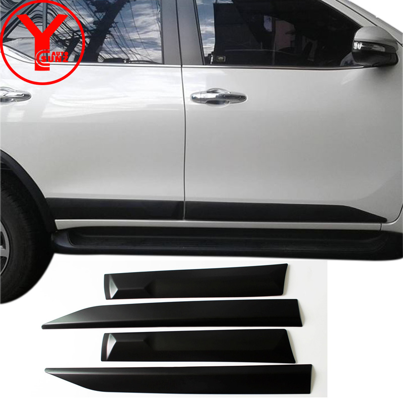 Black Side Door Trim For Toyota Fortuner Hilux Sw Car Styling Body Cladding on Toyota Body Parts