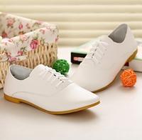 Nuevo llega la mujer de cuero genuino zapatos de la mujer ocio zapatos blancos Retro para mujer de moda zapatos menos de la madre plana 4 colores