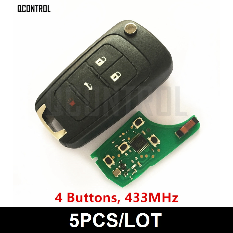 QCONTROL 4BT Car Remote Key DIY for OPEL/VAUXHALL 433MHz with Chip Astra J Corsa E Insignia Zafira C 2009-2016