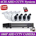 4CH 1080 P AHD CCTV Sistema DVR 4 UNIDS CCTV Cámaras de 2.0 Megapíxeles Enhanced IR de Cámaras de Seguridad con 1 TB HDD 1080 p ahd cámara
