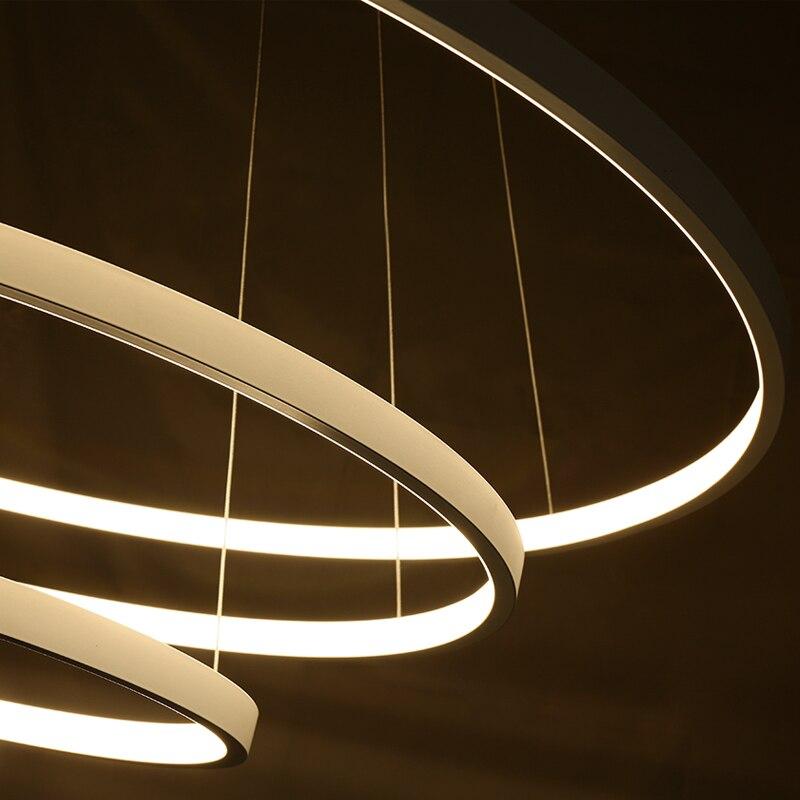 Lustres glod/preto/cor branca lustres modernos anéis Name : Modern Pendant Light