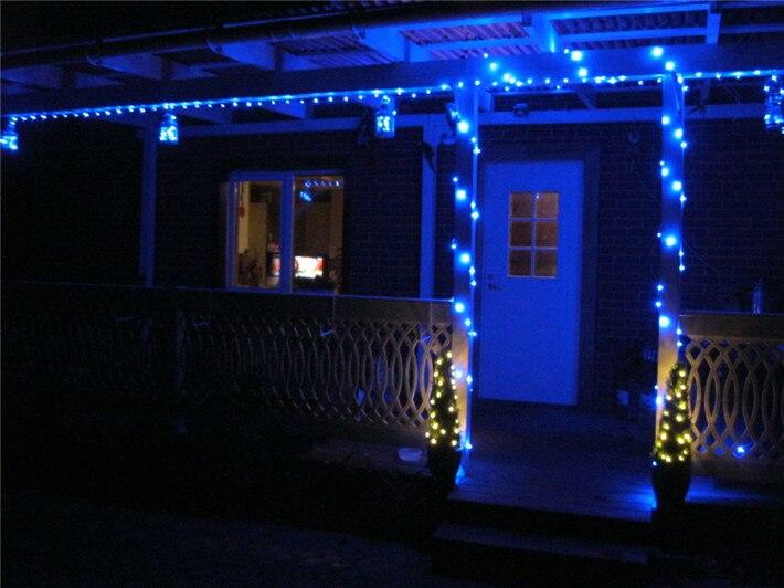 LED String Light 10m 100leds Silver Wire Fairy Lights med 12V 1A - Festlig belysning - Foto 5