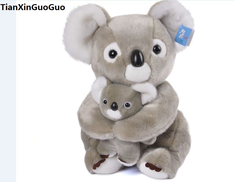 stuffed toy large 50cm gray koala plush toy soft doll throw pillow high quality birthday gift s0339 large 90cm cartoon pink prone pig plush toy very soft doll throw pillow birthday gift b2097
