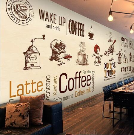 Custom Stereo Coffee Wallpaper Modern Minimalist Large Mural Restaurant  Cafe Bakery Personality Wallpaper Mural In Wallpapers From Home Improvement  On ...