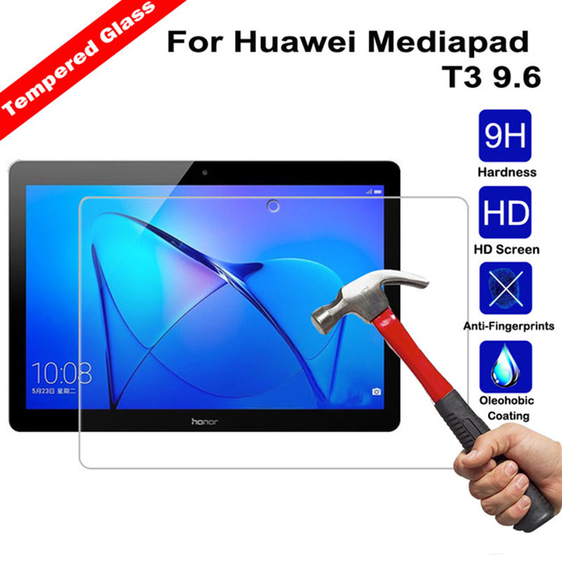 Tempered Glass For Huawei Media Pad T3 10 Screen Protector Tablet 9.7 Tempered Glass Tablet Screen Protectors Film For AGS-L09 tempered glass original for alldocube m5 glass screen protector film slim transparent