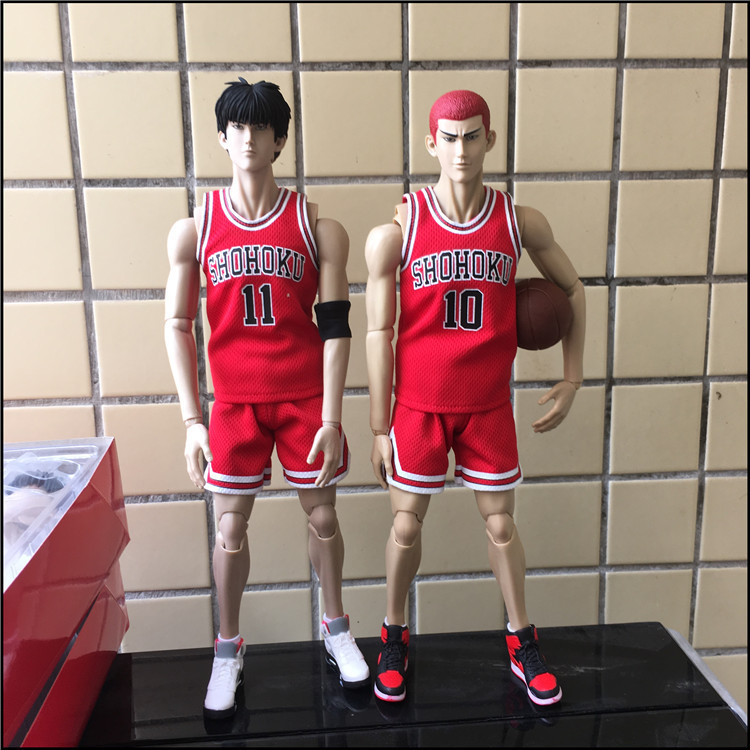anime SLAM DUNK Hanamichi Sakuragi Rukawa Kaede action figure pvc classic collection toy doll model garage kit anime slam dunk akagi takenori action figure pvc classic collection toy model garage kit doll