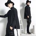 Harajuku Fashion Bat Sleeve Side Button Mens Sweatshirts 2017 Cloak Designer Hoodies Loose Hip Hop Sweatshirt Men Streetwear