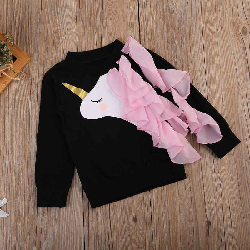 e001dd58a333 ... 2018 New Brand Cute kid Infant Toddler Baby Girl Clothes Long Sleeve  Ruffle Tops Casual Sweatshirts ...