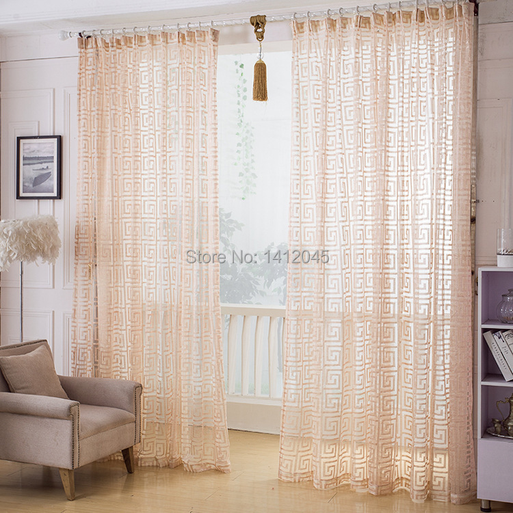 Aliexpress.com : Buy Fashion Quality Finished Window Screening Modern Tulle Net  Curtains For Living Room The Bedroom Chinese Sheer Curtain Panels From ... Part 96