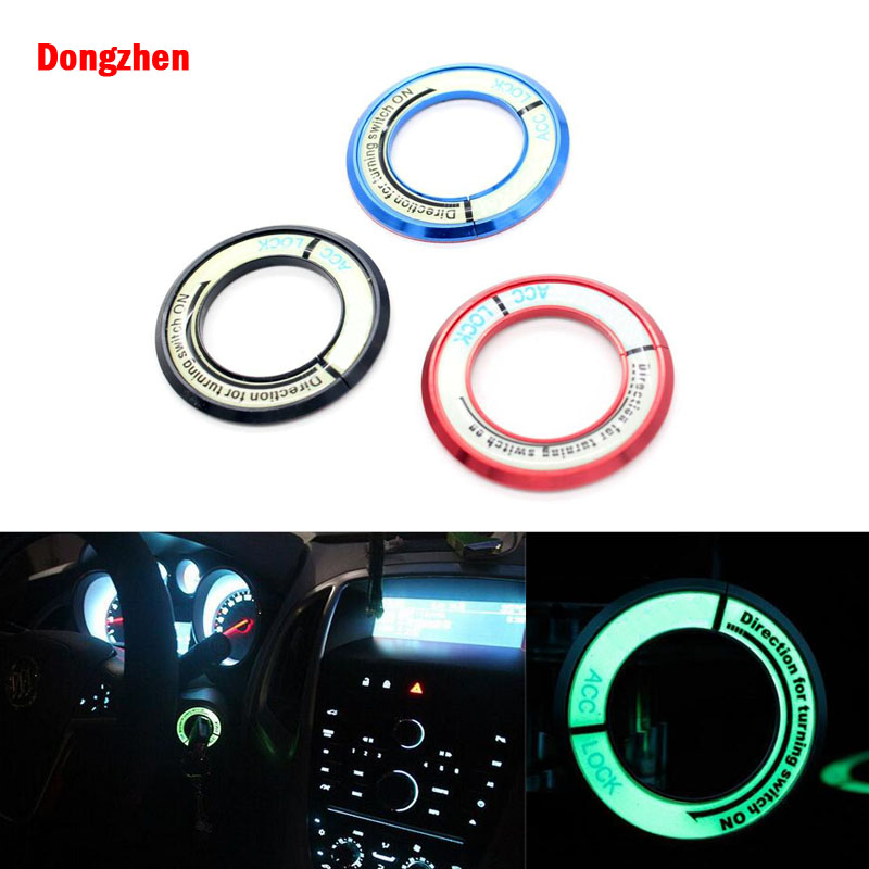 Dongzhen Car Luminous Ignition Switch Stickers Key Hole Protection Circle For Mazda Cx5 Cx7 2 3