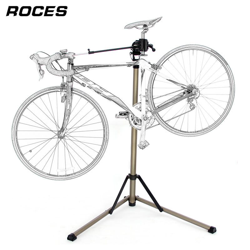 Aluminum Alloy Bike Repair Stand Professional Bicycle Repair Tools Adjustable Fold Bike Rack Holder Storage Bicycle Repair Stand free indoor exercise bicycle trainer 6 levels home bike trainer mtb road bike cycling training roller bicycle rack holder stand