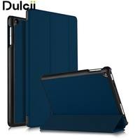 DULCII For ASUS ZenPad 10 Z301ML Magnetic Case Tri Fold Stand PU Leather Smart Shell For