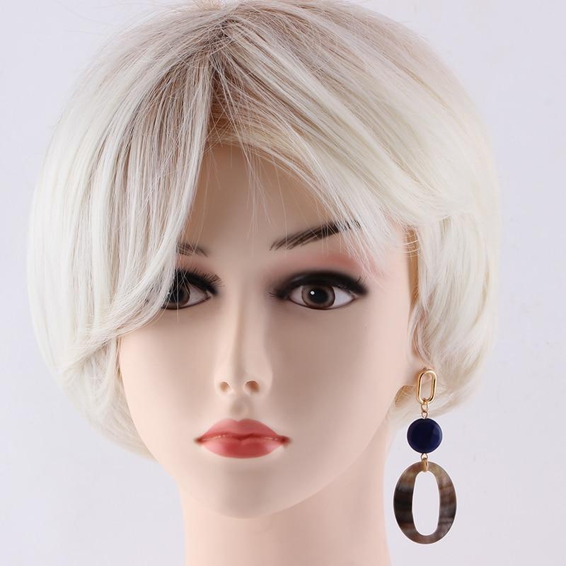Sehuoran baumeln Ohrringe für Frau aus Naturstein und Ocean Shell - Modeschmuck - Foto 5