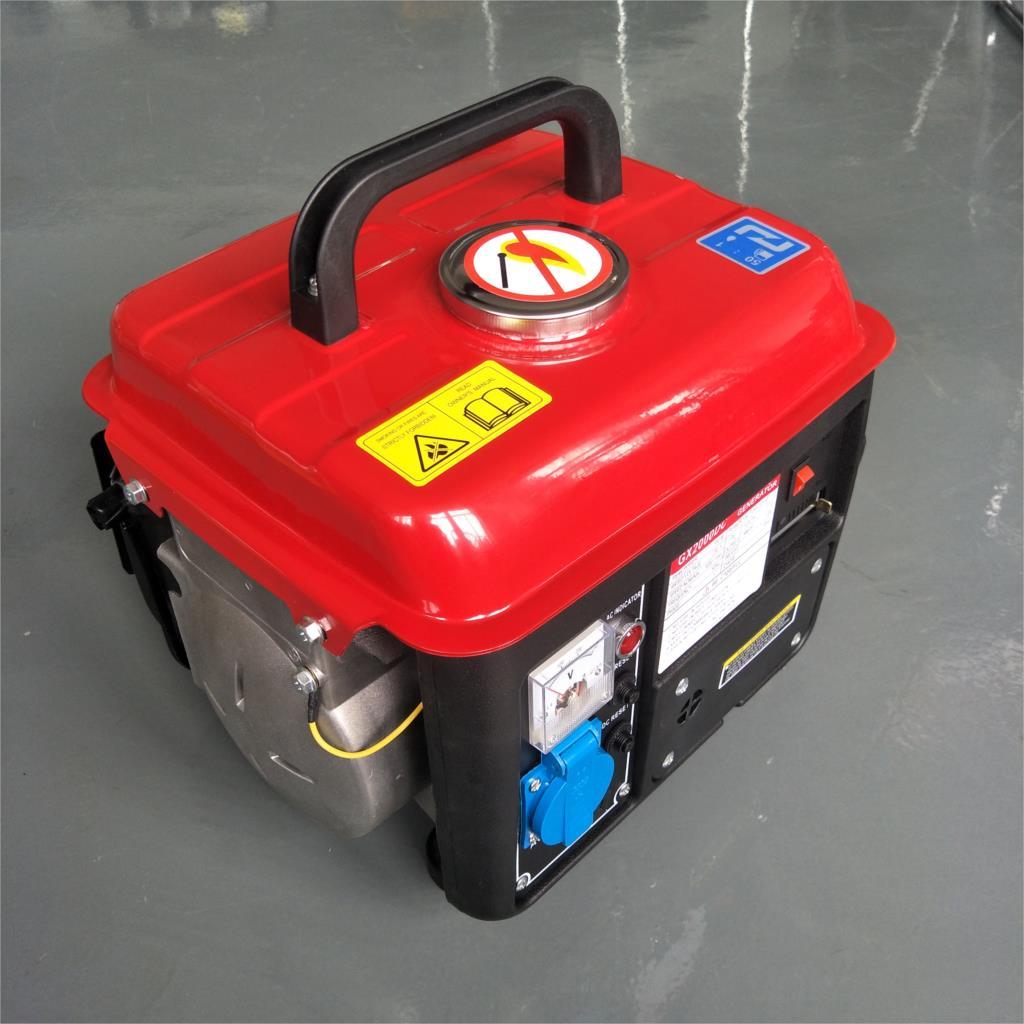 500 W Watt 650 W Watt 220 V Volt monophasé deux temps petit Portable extérieur générateur d'essence domestique