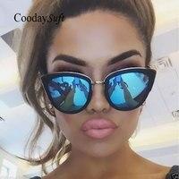Coodaysuft Women Cat Eye Sunglasses Vintage Classic Brand Designer UV400 Sun Glasses Lady Mirror Eyewear Female