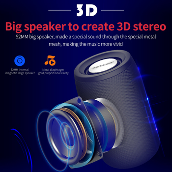 Small Portable Speakers | Mini Portable Camouflage HIFI Subwoofer Bluetooth 5.0 Speaker With Fm Radio Small Wireless Speaker Column Support TF Card U Disk