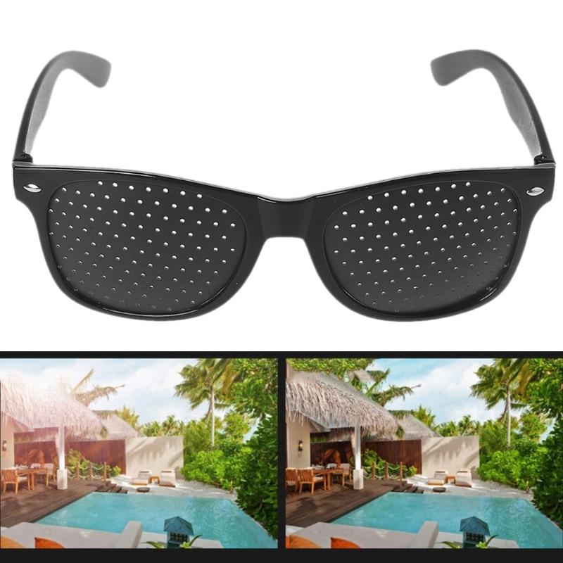 Vision Care Corrective Improve Pinhole Small Anti-fatigue Eye Protection Glasses 95AD