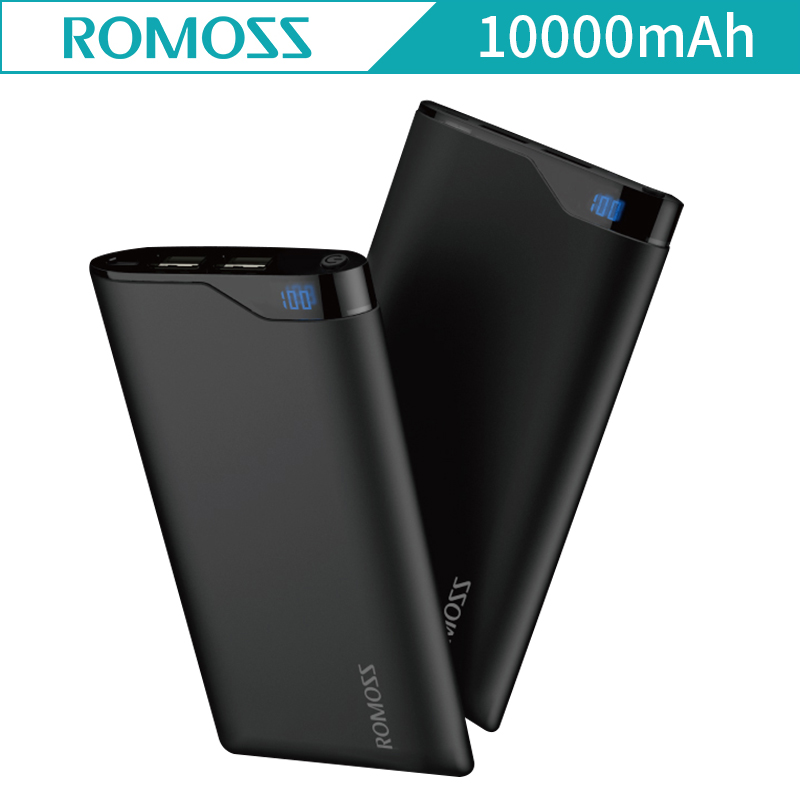 Power Bank 10000mAh Romoss NE10 LED Screen External Powerbank Batteries Dual USB Power Bank for iphone 8 plus for iphone X NE 10