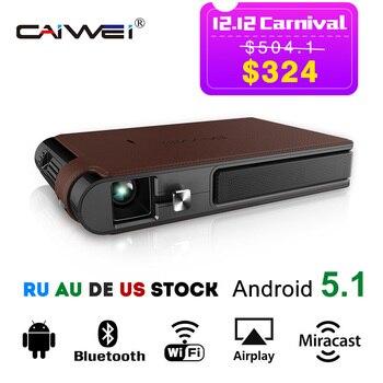 CAIWEI portátil DLP Mini LED proyector de cine en casa de negocios Video de oficina bolsillo Pico soporte Full HD 1080 p Miracast Airplay