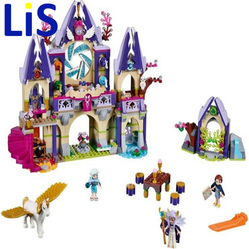 Lis Bela 10415 Elves Azari/Farran/Emily Jones Sky Castle Fortress Building Block Toys Compatible With lepin 2017 10415 elves azari aira naida emily jones sky castle fortress building blocks toy gift for girls compatible lepin bricks