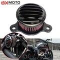 Negro Filtro de Aire de Admisión De Aluminio Cnc de La Motocicleta Para Harley Sportster Xl 04-14 883/1200