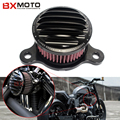 Preto Cnc de Alumínio Da Motocicleta Air Filter Cleaner Intake Para Harley Sportster Xl 04-14 883/1200
