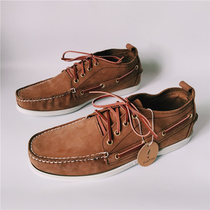 Image 5 - Men Top Leather Casual Flats Lace Up Fashion Driving Shoes Man Vintage Boat Shoes Chaussure Homme Size46 Zapatos Hombre Footwear