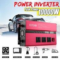 KROAK Car Power Inverter 12V 24V 220V 10000W Peak Power Sine Wave Inverter Car Invensor AC 110V Convertor Voltage Transformer