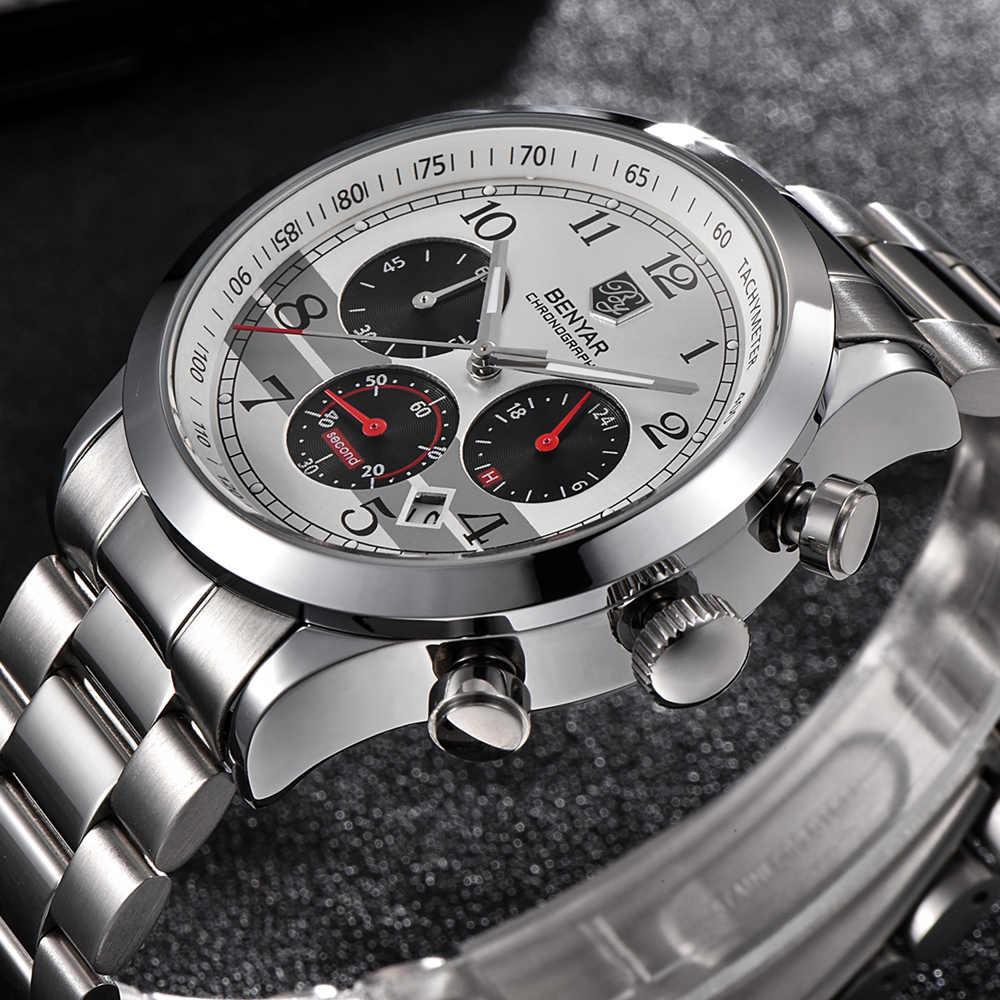 Top luksusowa marka BENYAR 2018 nowych mężczyzna wypoczynek na świeżym powietrzu sportowe zegarki kwarcowe moda biznes zegarki wodoodporne Relogio Masculino