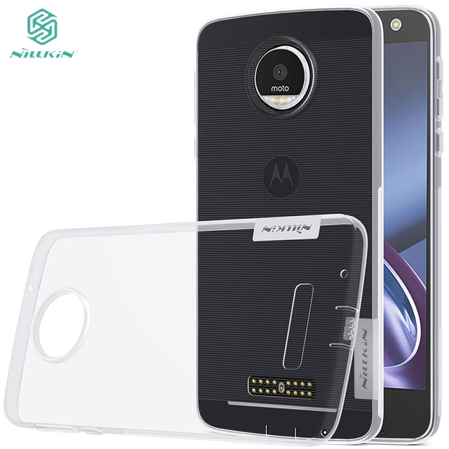 For Motorola Moto Z Z Droid XT1650 transparent case Original Nillkin Nature soft TPU cover 0.6mm thickness with free gift