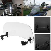 Motorcycle Risen Adjustable Wind Screen Windshield Extension Spoiler Air Deflector Wind Deflector for BMW Kawasaki Yamaha