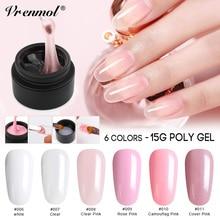 Vrenmol, 6 цветов, французский, телесный цвет, полигель, УФ-гель для наращивания ногтей, поддельный клей для ногтей, желе, акриловый гель, кончики для ногтей, дизайн