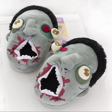 Free Shipping 1Pair Plush Zombie Slippers / Ravenous Zombie Warm Slippers ctx11