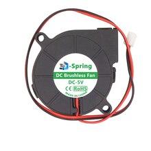 Вентилятор 5 в 12 В 24 в 50 мм турбина турбо вентилятор 50x15 мм 5015 DC Бесщеточный Охлаждающий двойной шариковый подшипник для 3d принтера экструдер MK7 MK8
