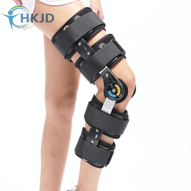 cc6e926371 Health care relief pain medical knee brace fixator aluminum stabilizer  support for knee joint loose Ligamentous Injury Free size