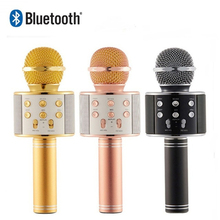 Professional Bluetooth Wireless Microphone Speaker Handheld Karaoke Mic Music Player Singing Recorder KTV
