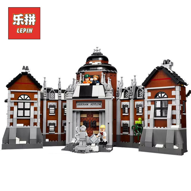 LEPIN 07055 1628Pcs Genuine Batman Movie Series Arkham Asylum Building Blocks LegoINGlys Toys Model with 70912 gifts lepin 07055 batman series arkham asylum model building block compatible legoe 1628pcs toys for children