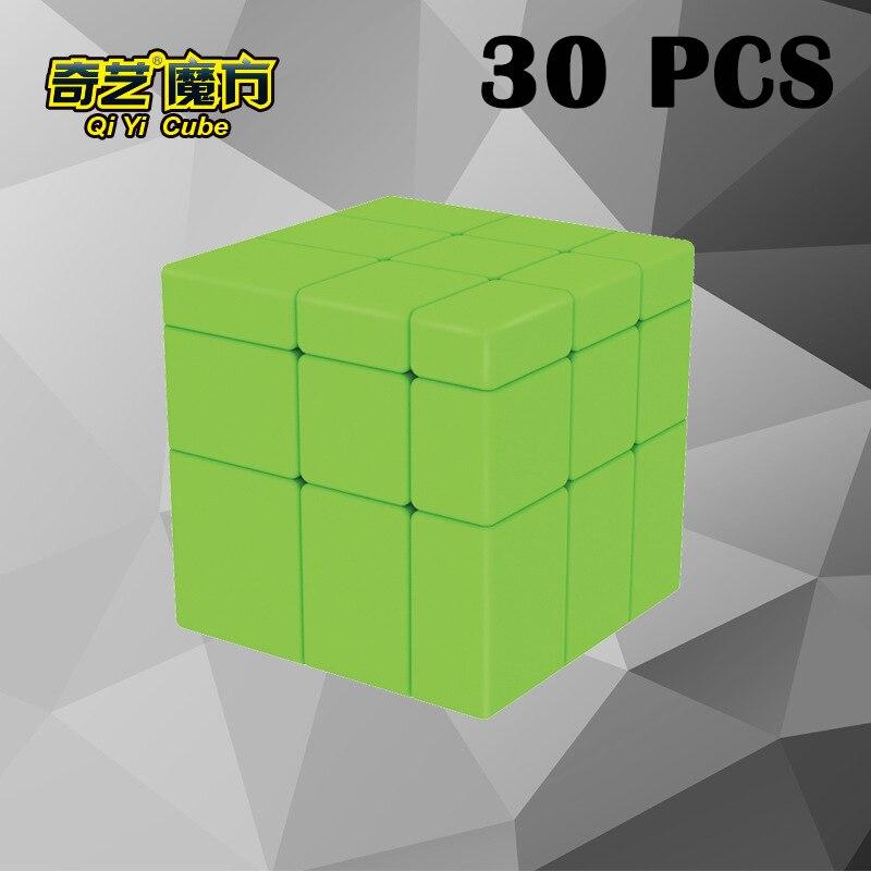 30 PCS QiYi Miroir Cubo magico 57mm Étrange-forme cube Magique Lisse Vert Puzzle cube Éducation Jouets Neo cube Classique Jouets