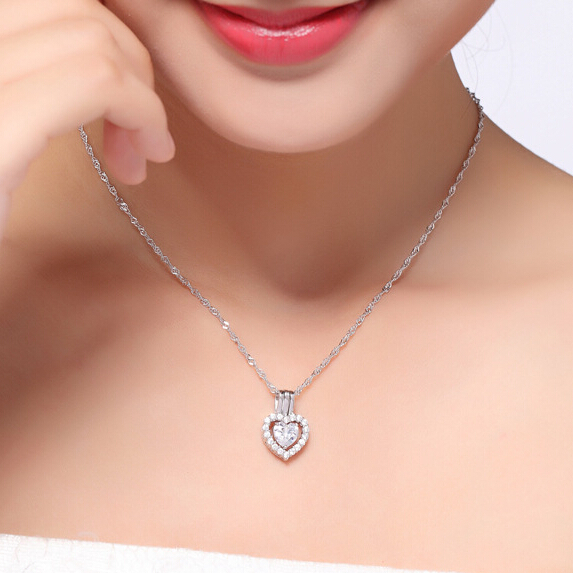 New crystal heart charms pendant necklace for women 3 ways wearing new crystal heart charms pendant necklace for women 3 ways wearing pingentes colar feminino suspension parure aloadofball Image collections