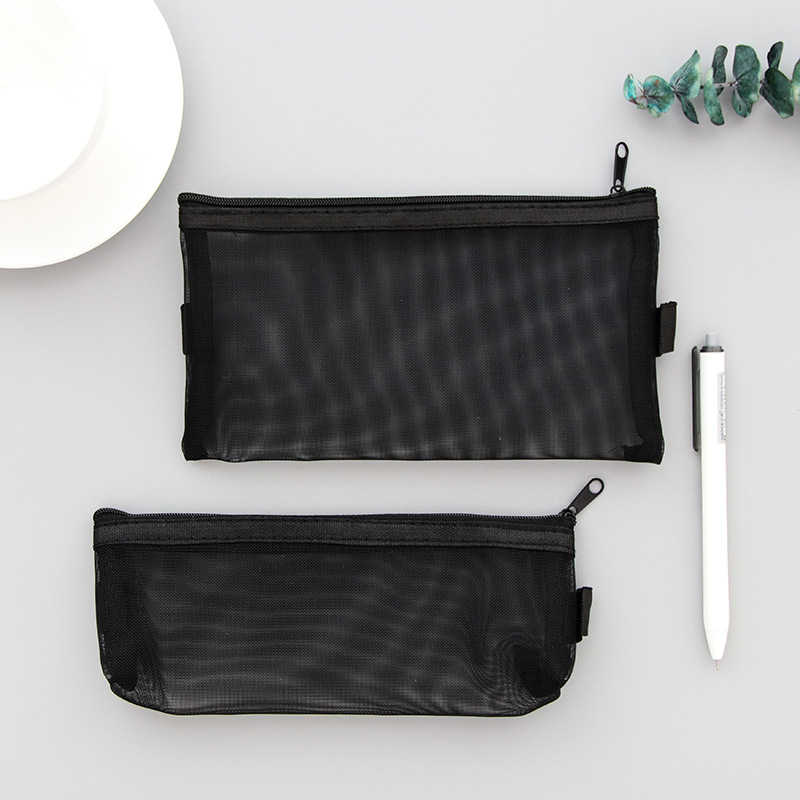 Transparent Mesh Pencil Case For Girls Cute Nylon Pencil Box Pen Bag Stationery Pouch Gift School Supplies Zakka