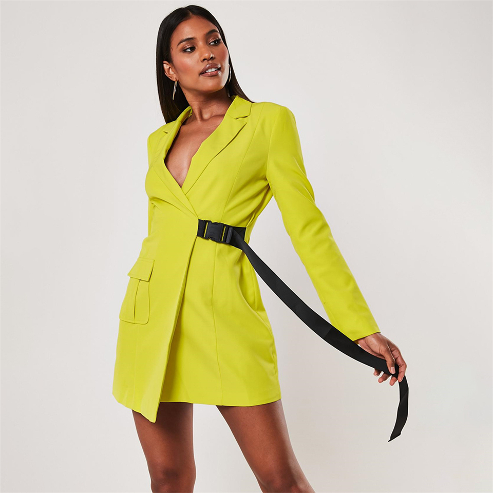 lime-blazer-seatbelt-blazer-dress
