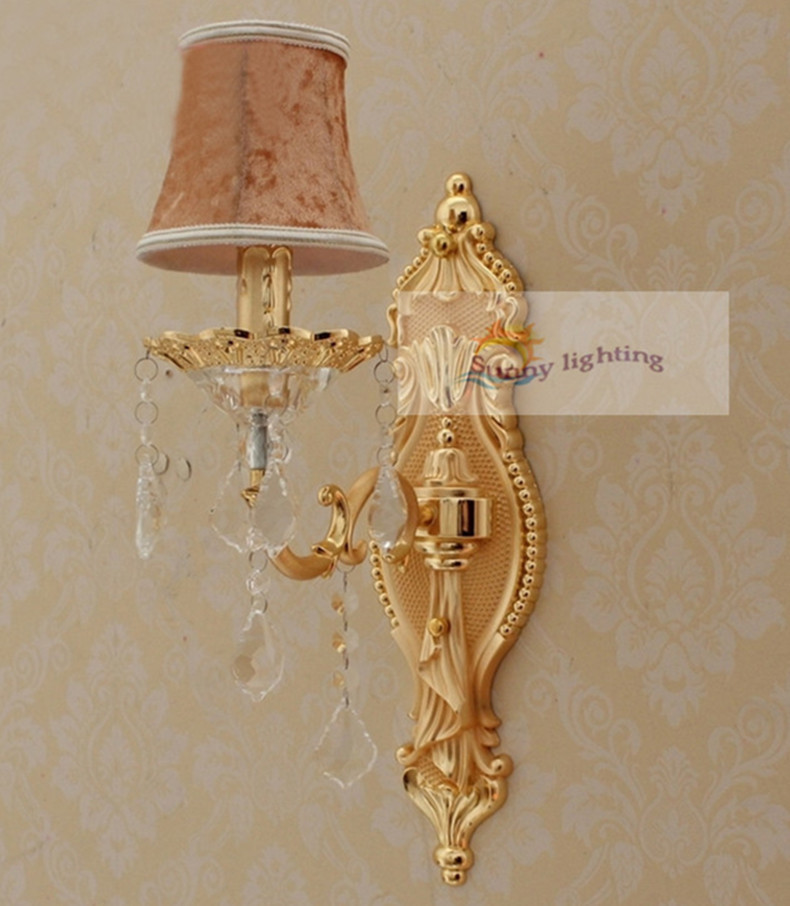 Free shipping bedroom wall lamps Italy style wall sconce modern wall Lighting fixture crystal bedside reading lights