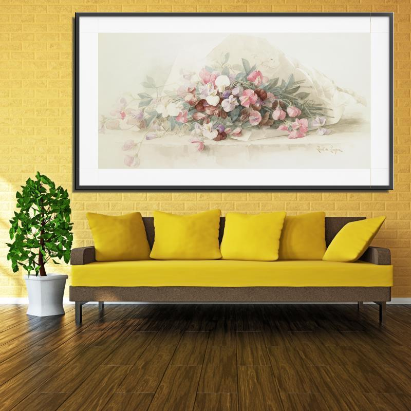 Frameless Canvas Art Oil Painting Flower Painting Design: Orchid Flower Classic Frameless Oil Painting Spray