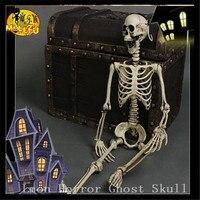 One Set 165cm Halloween haunted house bar scene layout props plastic luminous skull skeleton,Horror Those trick toys Ghost Skull