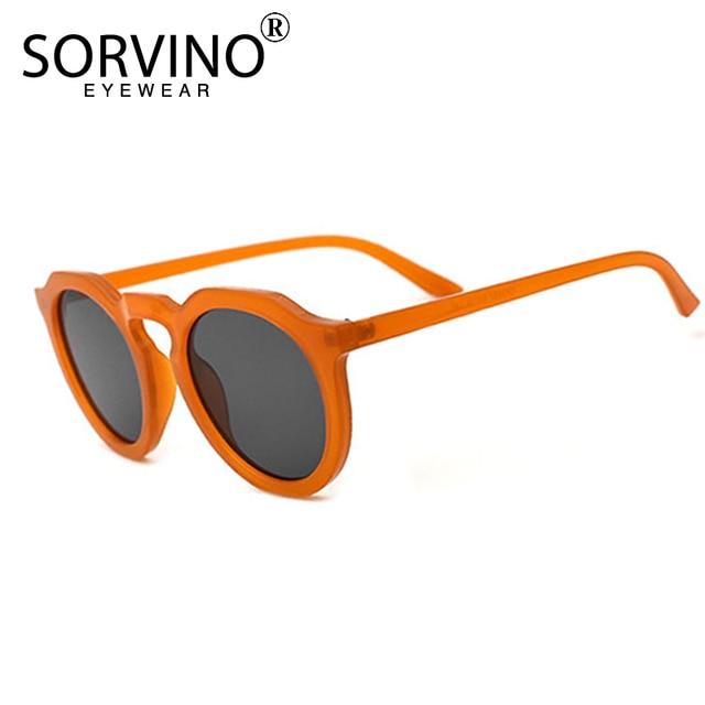 da94d2abf0aa5 SORVINO Retro Round Cat Eye Sunglasses Women Luxury Brand 90s Designer  Orange Pink Mirror Circle Cateye Sun Glasses Shades SP326