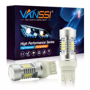 VANSSI 2x T20 7443 7444 W21/5W LED Bulb For Lada Vesta Kalina Accessories Front Dimension Light Lamp White Amber Yellow(China)