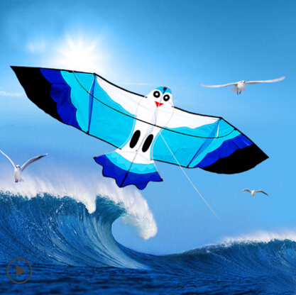 free shipping high quality 2m seagull kite with100m kite line flying bird kite flying toys hcxkite traditional chinese kites