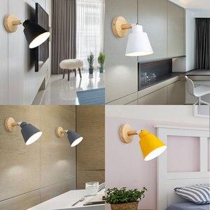 Image 3 - ไม้ไฟข้างเตียงโคมไฟห้องนอนโคมไฟติดผนังสำหรับห้องครัวร้านอาหารโมเดิร์นโคมไฟผนัง Nordic Macaroon sconces