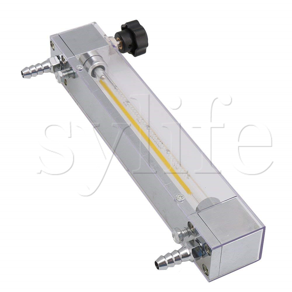 LZB-4 40-400L/h Gas Air Oxygen Flowmeter Flow Meter Regulator Fit for 10mm Hose Metal Control Valve oxygen regulator 870 medical oxygen bottle flow regulator