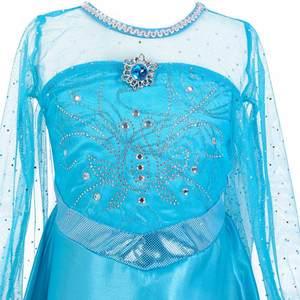 Image 5 - Женский костюм «Снежная Королева», маскарадное вечернее платье королевы Эльзы, сестры принцессы Анны, для девочек